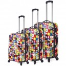 Set 3 trolley ABS 4 ruedas estampado